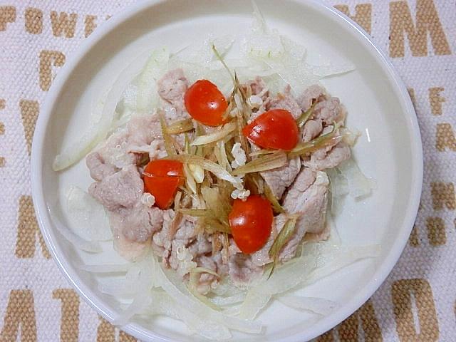 23.トマトと玉ねぎの冷しゃぶサラダ