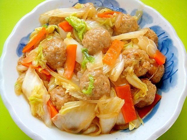 15. 白菜と人参、肉団子の中華煮