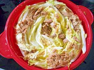 簡単シリコン鍋の白菜煮