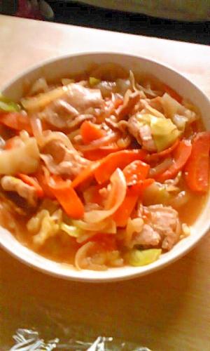 豚肉と野菜のとろみ炒め
