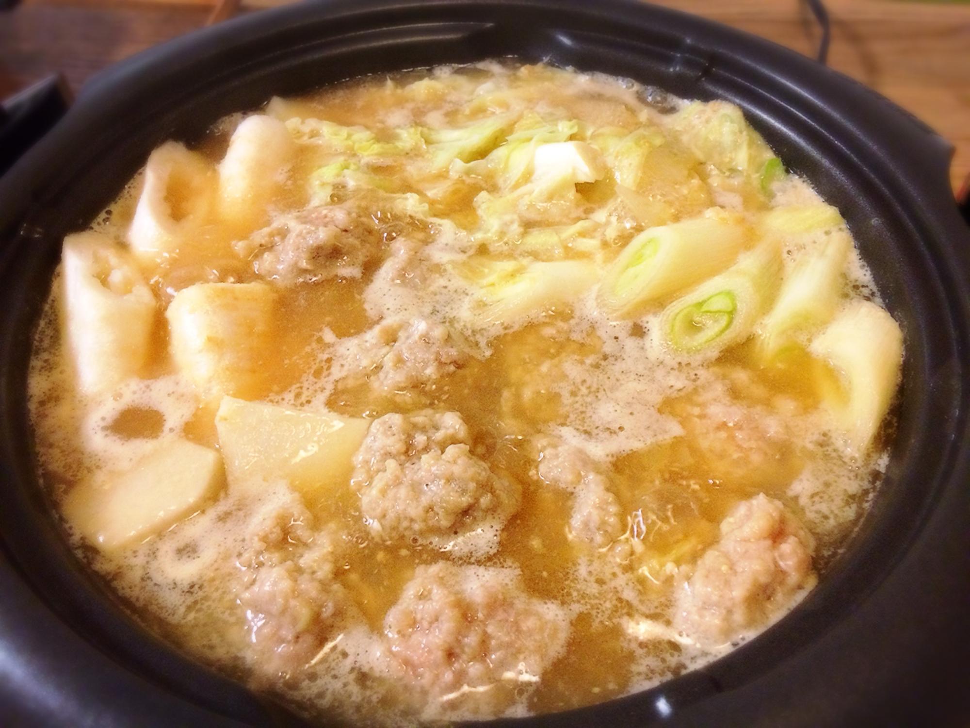 濃厚 肉団子みそ鍋 レシピ・作り方