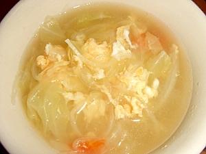 野菜とふんわり卵のスープ