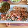 桜海老とニラのチヂミ?簡単韓国料理♪の参考画像