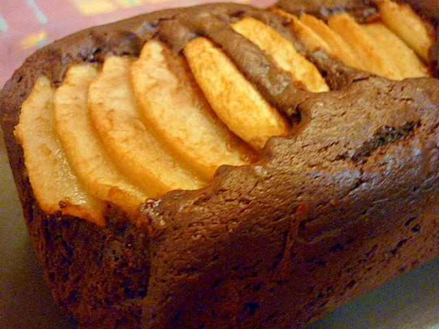 洋ナシのチョコレートケーキ