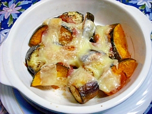 旬の野菜で・・・茄子とかぼちゃのチーズ焼き レシピ・作り方 by じゅーんらく|楽天レシピ
