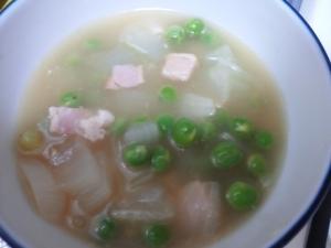 余ったえんどう豆のお手軽スープ