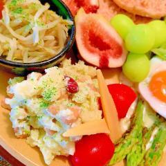 彩りお豆のパセリーゼポテトサラダ