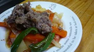 焼肉と野菜の洋風焼き