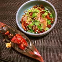 燻製さわらと焼きしめじのバルサミコマリネ