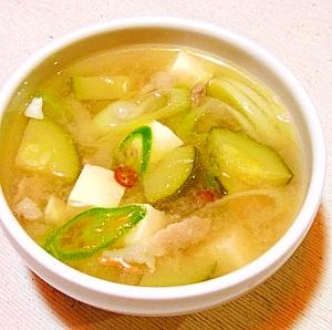 家にあるもので簡単に作るテンジャンチゲ風スープ