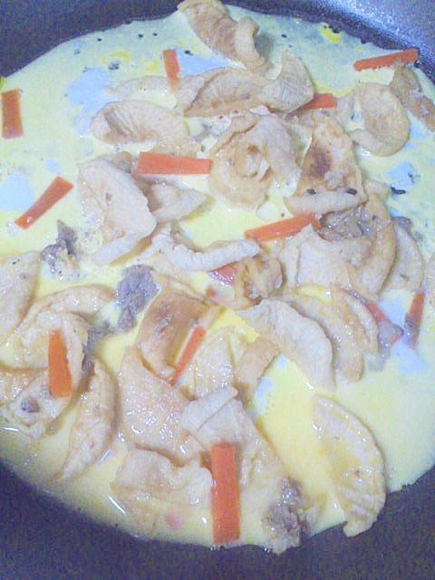 ヘルシー☆豚肉&切り干し大根の卵とじ