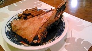 鮪のかまと牛蒡の煮物