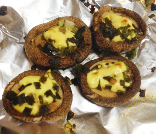 椎茸のトースター焼きマヨ油