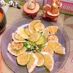 焼きズッキーニとニューサマーオレンジのマリネ
