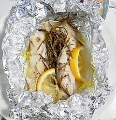 真鱈のローズマリーホイル焼き