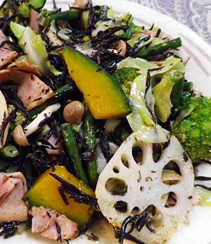 ひじきの野菜たっぷりサラダ