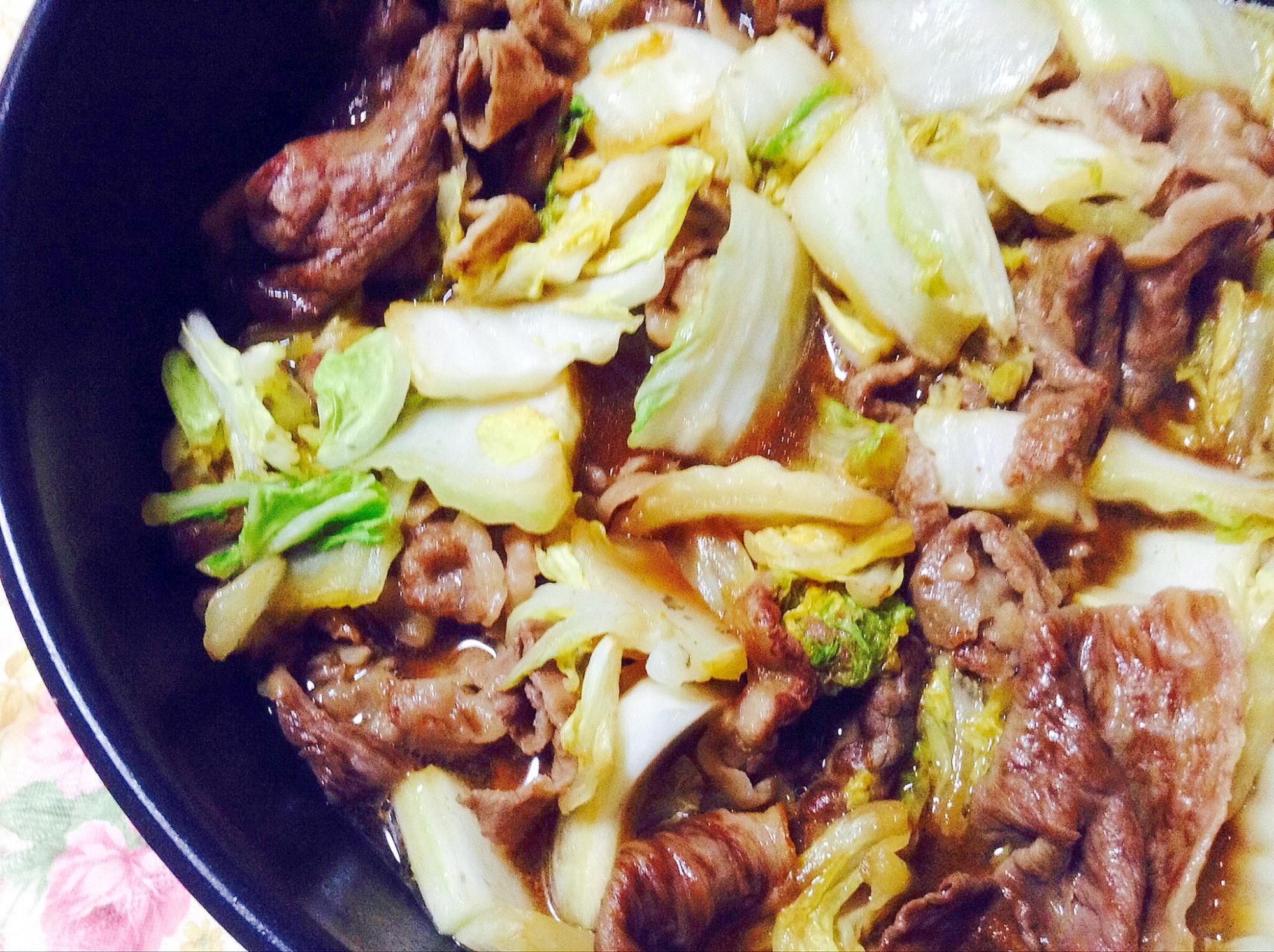 牛肉と白菜の甘辛煮