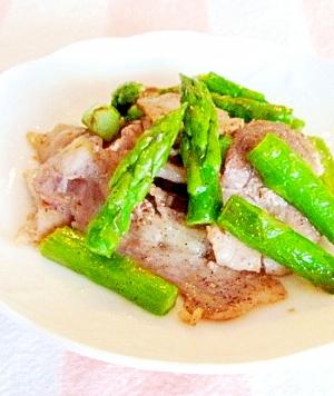 お弁当に★アスパラと豚肉の塩胡椒炒め