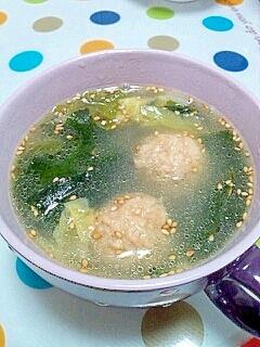 白菜とミートボールの中華スープ♪