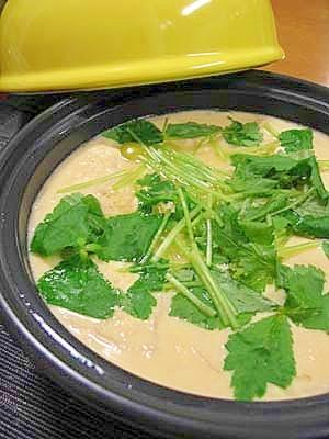 タジン鍋で★豆腐入り大きな茶碗蒸し