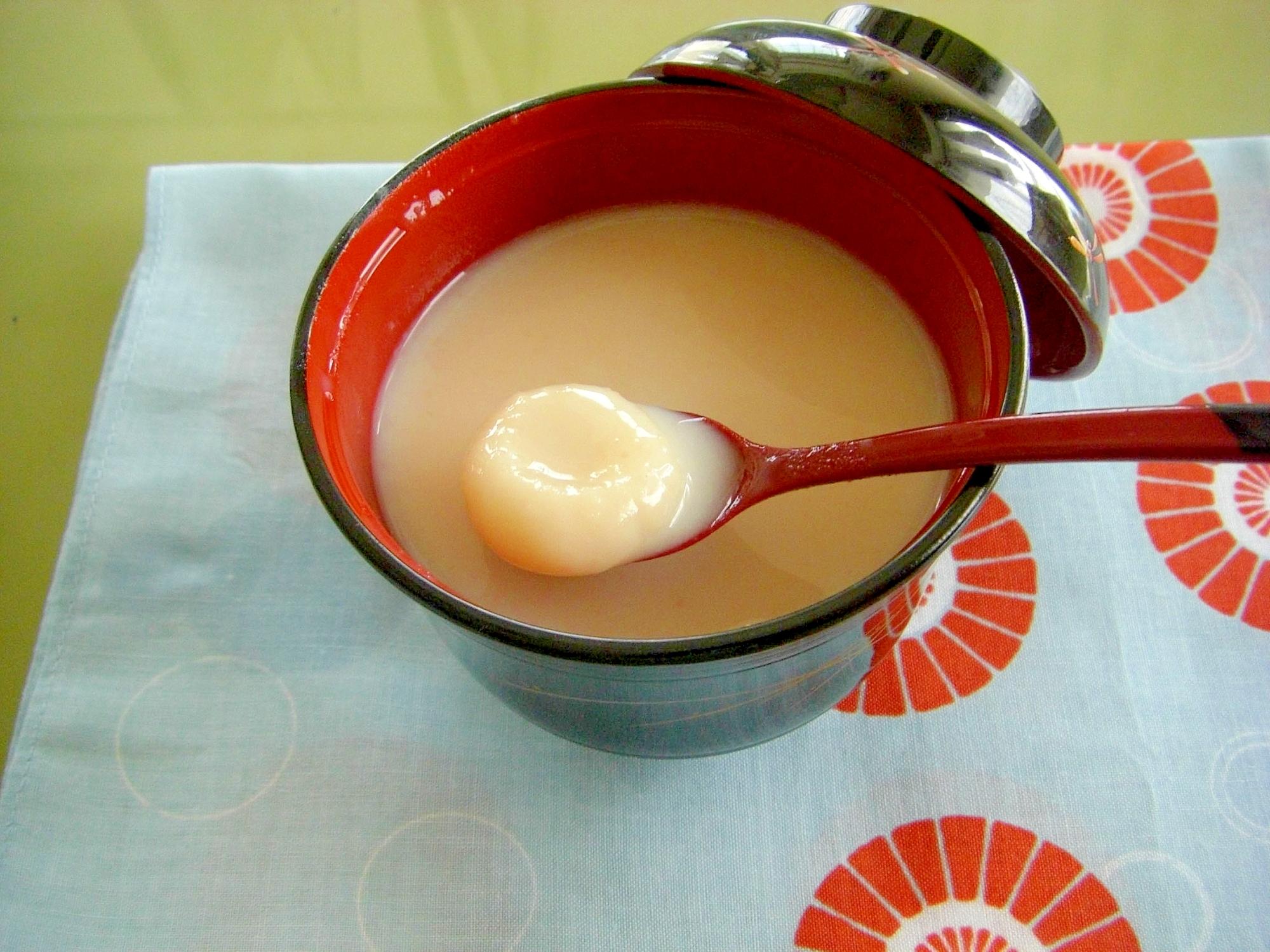 ミルキー白いお汁粉