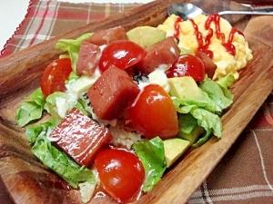 DERI風ワンプレートごはん★スパム丼