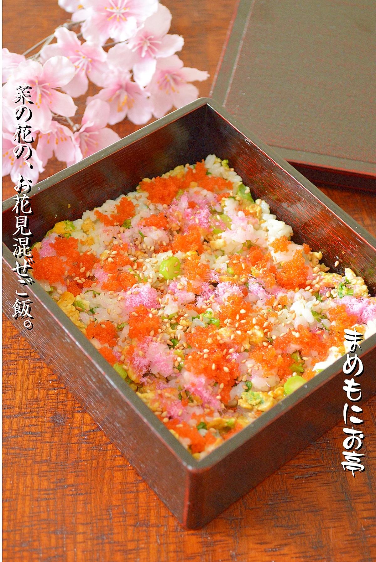 色鮮やかな♪菜の花のお花見弁当