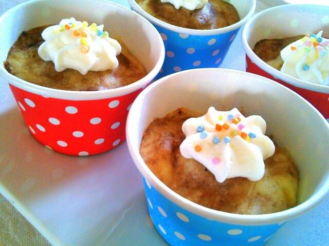 親子クッキング♪完熟バナナで超簡単カップケーキ