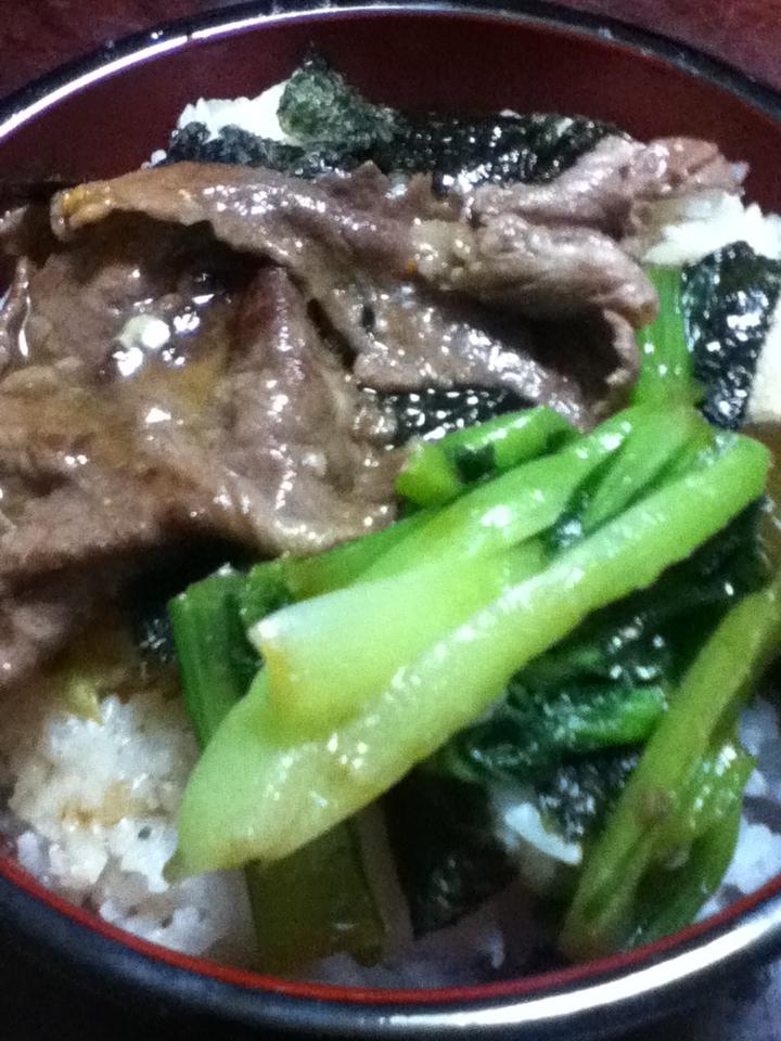 小松菜牛丼