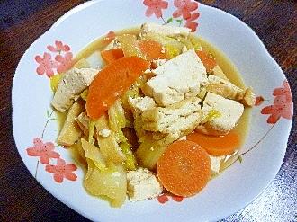 人参&白菜&豆腐の炊いたん