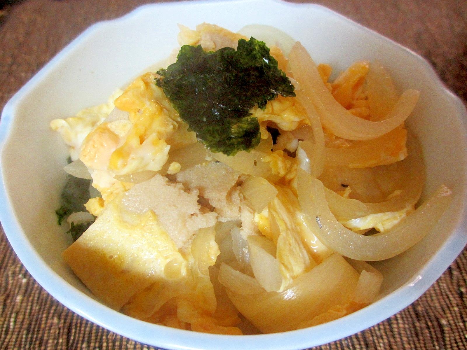 高野豆腐の卵とじ丼