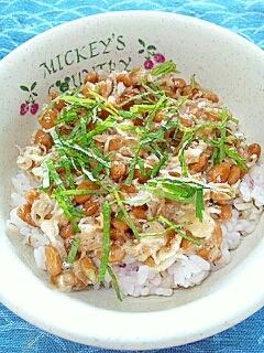 納豆の食べ方-香味ちりめんじゃこ♪