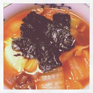 *簡単*ピリ辛!お豆腐中華スープ