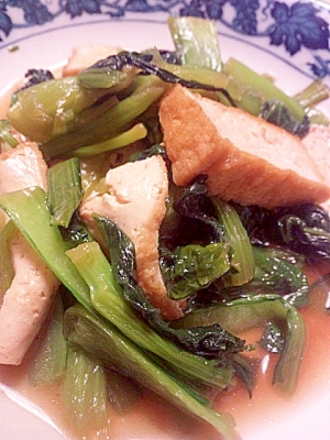 小松菜と厚揚げの中華風炒め