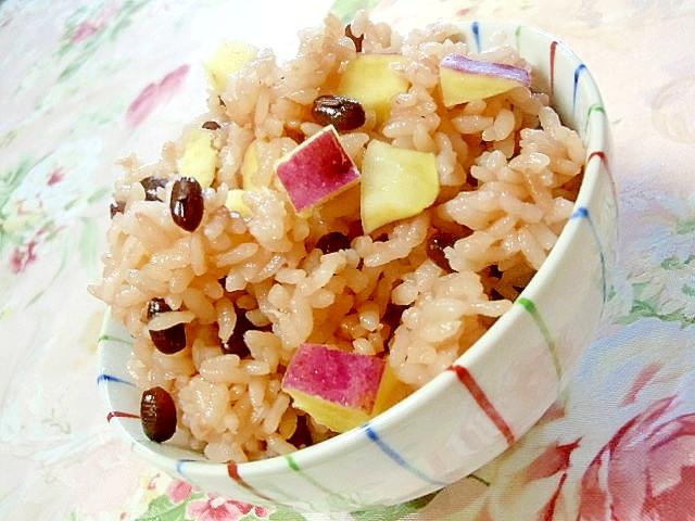 小豆と薩摩芋のお赤飯