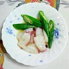 タコとオクラの酢味噌和え~
