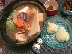 焼き葱と鴨の色々使い切りごちそう雑煮