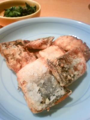 下味をつけて冷凍保存☆塩サバの竜田揚げ