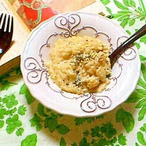 フライパン一つで超簡単♪豆乳リゾットバジル風味