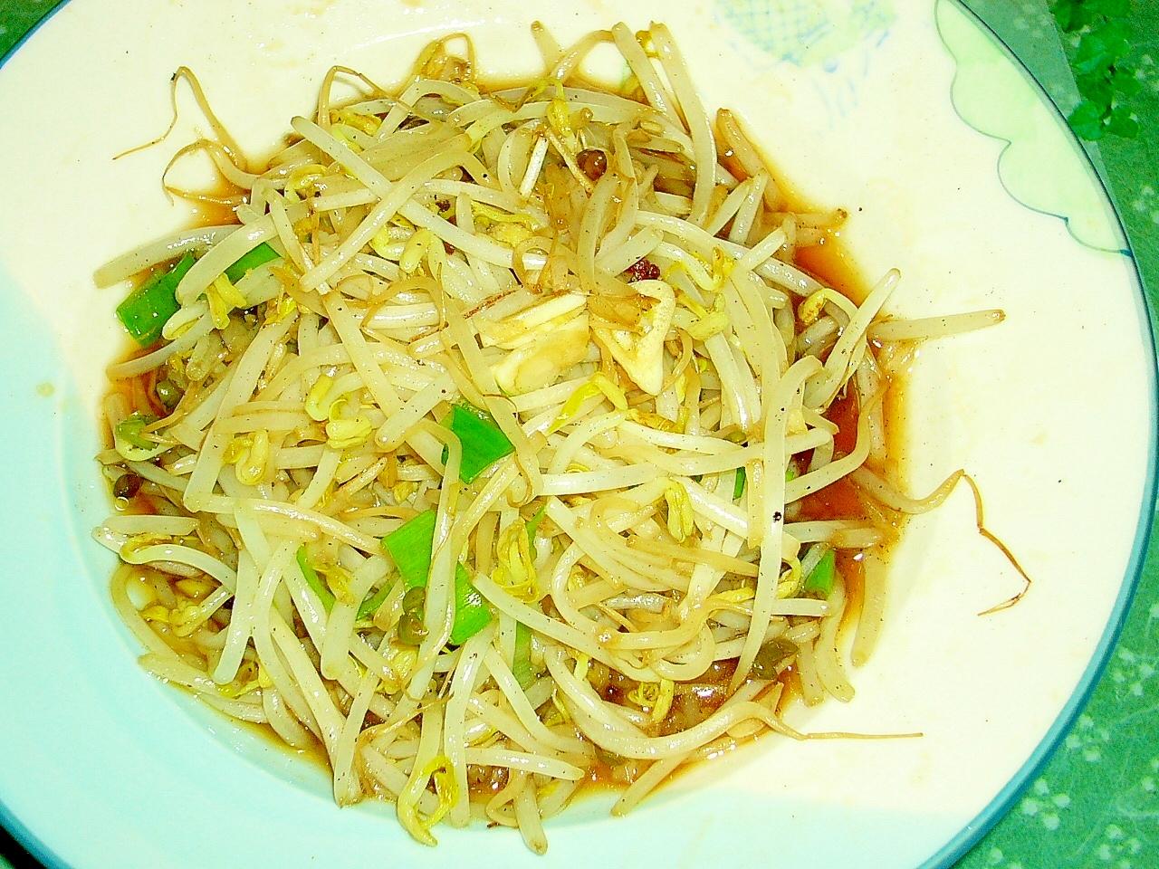 緑豆モヤシの簡単で炒め