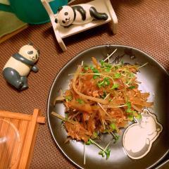 ツナと牛蒡の生姜ぽん酢きんぴら