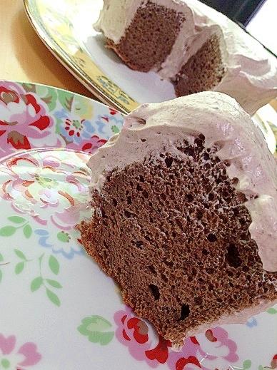 簡単チョコレートシフォンケーキ(直径18センチ型)