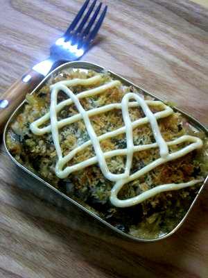 オイルサーディンのパン粉焼き