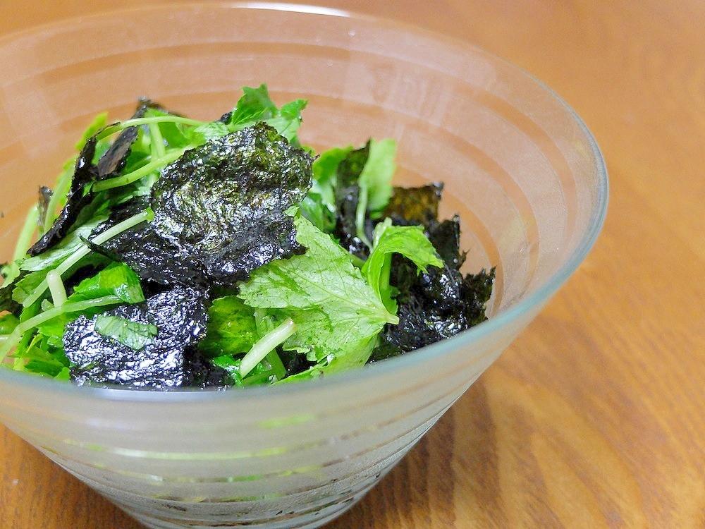 2.海苔と三つ葉のシンプルサラダ