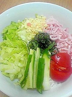 素麺で冷麺風