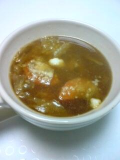 液みそとキムチ鍋の素の野菜スープ