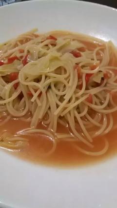 朝食にぴったり☆野菜のスープパスタ♡簡単!