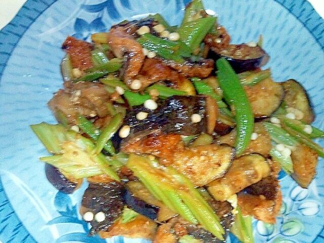 穴子と夏野菜の炒めもの