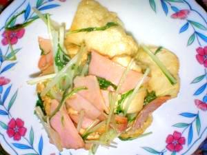 豆腐のこんがり炒め