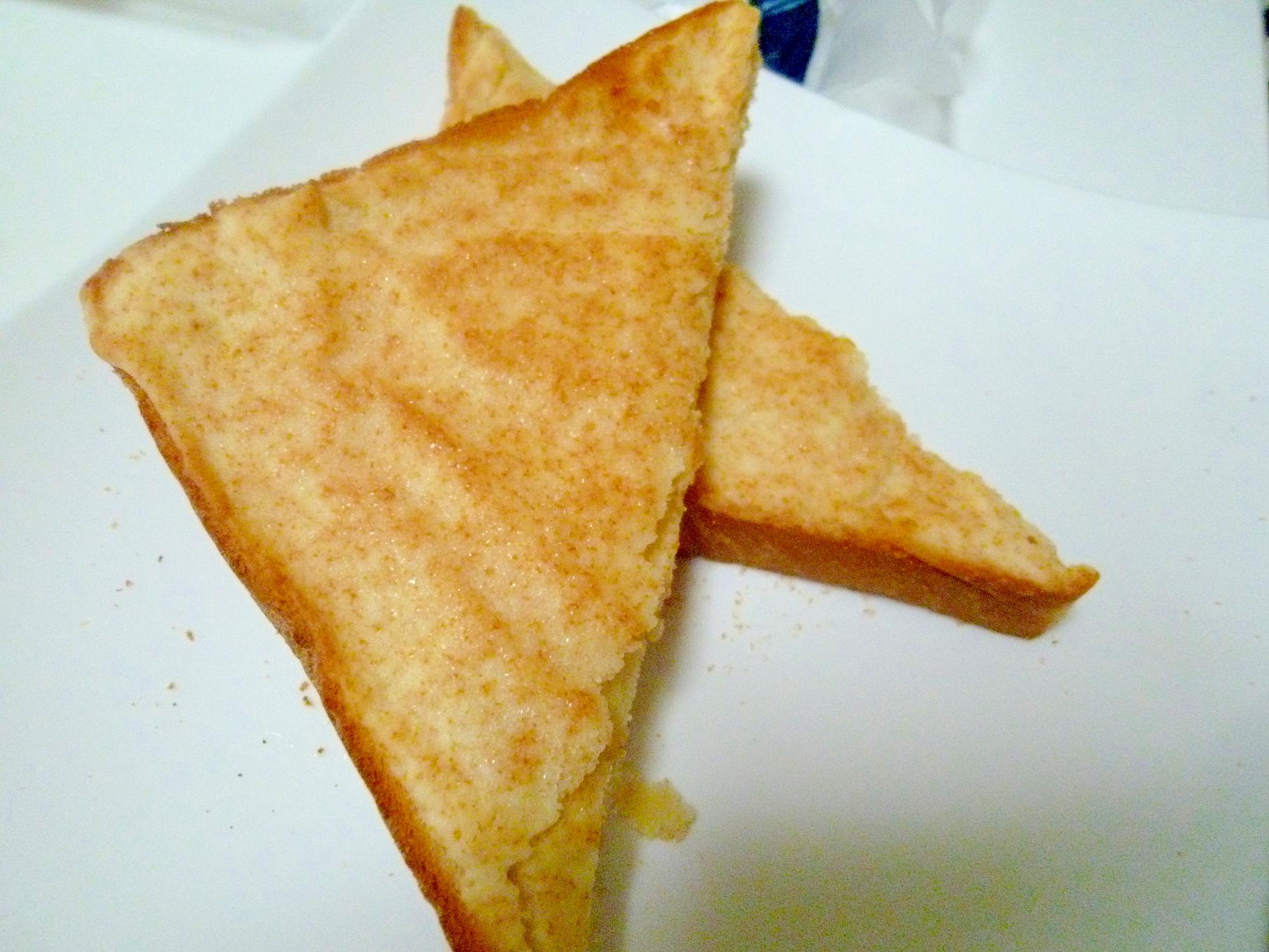 1. ホットケーキミックスで作るメロンパントースト